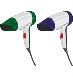isolated hairdryers vector image
