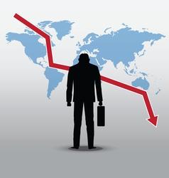 stock market crash vector image