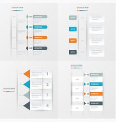 Timeline design 4 item orange blue gray color vector