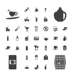 37 drink icons vector