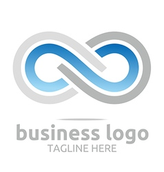 Abstract logo business infinity company connecting vector