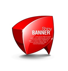 abstract shiny glass banner red vector image