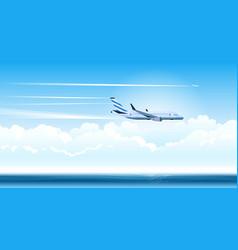 air plane vector image