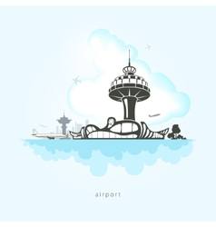 Airport with planes vector image