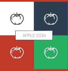 Apple icon white background vector