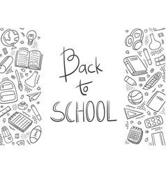 back to school doodle first day school vector image