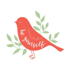 Background with bird vector