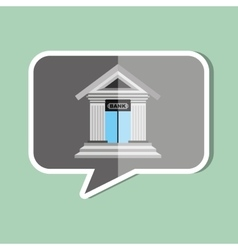 bank building design vector image