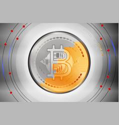 Bitcoin surface metal scene vector