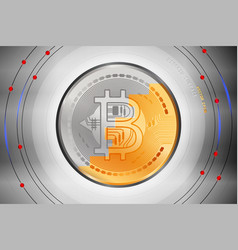 bitcoin surface metal scene vector image