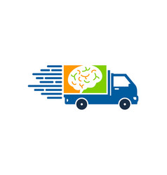 brain delivery logo icon design vector image