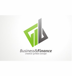 business finance logo design success vector image