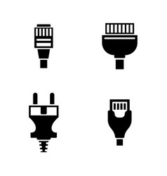 Cable wire computer plug simple related vector