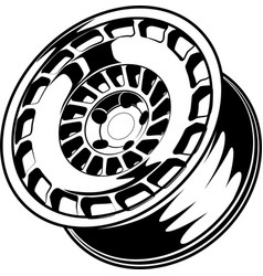 car wheel 13 vector image