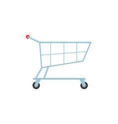 cart on rolls store isolated icon trolley vector image