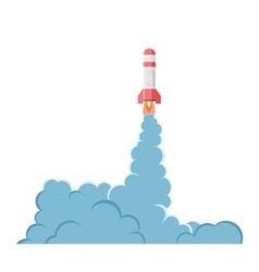 Cartoon bomb explosion with smoke vector
