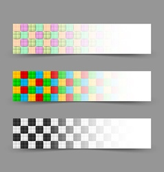 Chessboard banners vector image