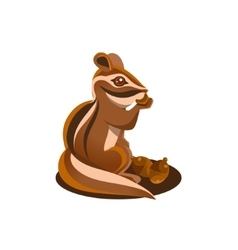 Chipmunk Eating Acorn vector image
