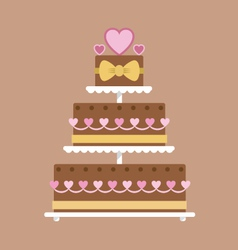 Chocolate wedding cake vector