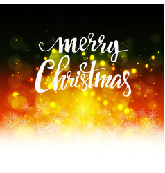 christmas background with bokeh vector image