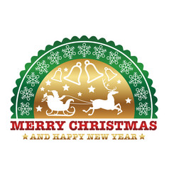 christmas emblem vector image