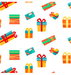 christmas holiday seamless pattern of presents and vector image