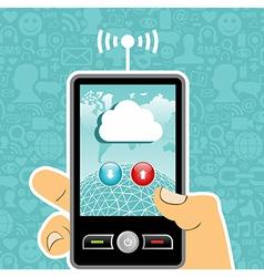Cloud computing concept application vector image