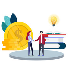 Concept financial investments innovation vector