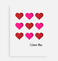 cut the heart on the paper and a white background vector image