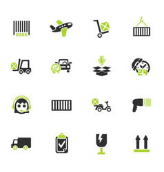 Delivery service icon set vector