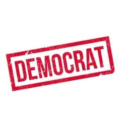 Democrat rubber stamp vector