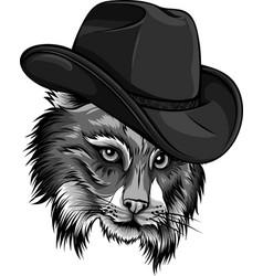 design wild cat lynx bobcat trot hand top vector image