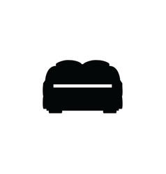 double seats sofa or couch black silhouette icon vector image