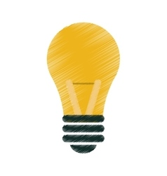 drawing bulb idea intelligence light vector image