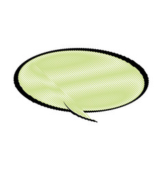 Drawing cartoon bubble comic speech chat vector