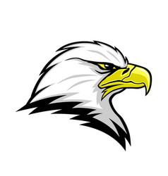 eagle head mascot sign vector image
