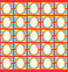 Easter pattern fabric vector