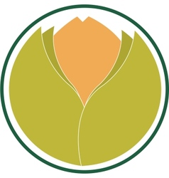emblem indicating ecological product vector image