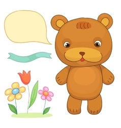 Funny Toy Bear design Animal Children store vector
