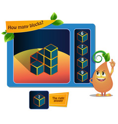 Game educational 7 block vector