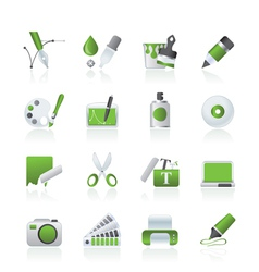 Graphic and web desing icons vector image
