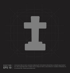 halloween grave cross icon - black creative vector image