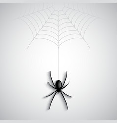 Halloween spider background vector