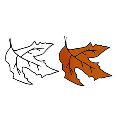 Hand drawn halloween leaf vector