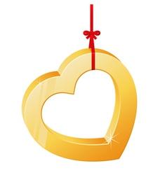 Heart on a ribbon vector