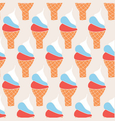 ice cream cones vintage seamless background vector image