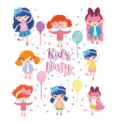 kids party cartoons vector image
