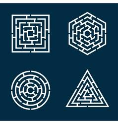 labyrinths vector image