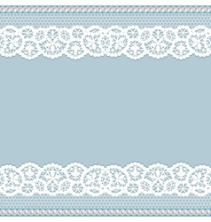Lace with pearls vector
