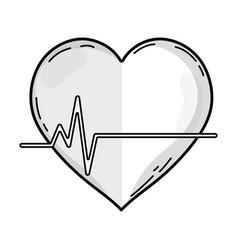 Line frequency vital cardiac rhythm heartbeat vector